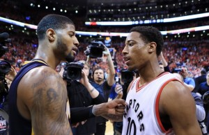 In Round #1, DeMar DeRozan and the Raptors knocked off Paul George and the Indiana Pacers in seven tough games.