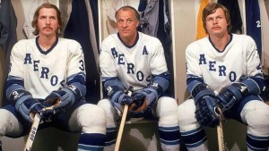 Marty, Gordie and Mark Howe, with the WHA's Houston Aeros.  Can you imagine being able to play in the pros with your Dad?  Or your sons?  That's awesome!